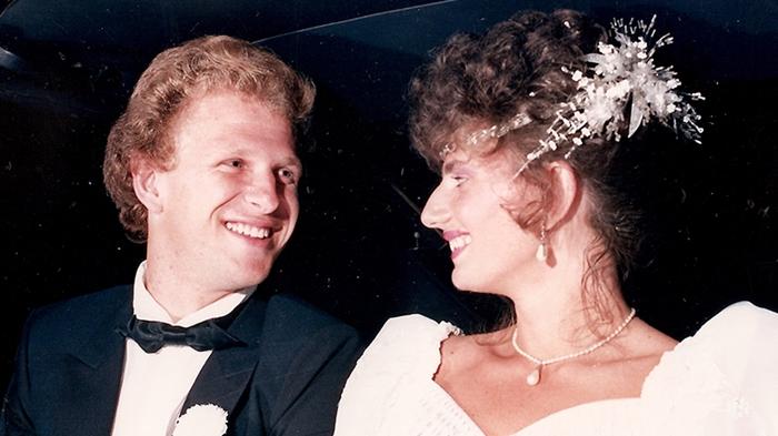 Registro do casamento com Márcia Merisio | Foto Reprodução/Redes Sociais