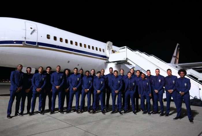 Seleção brasileira chegando na Rússia | Foto: Divulgação CBF