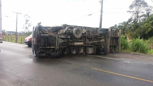 Acidente ocorreu na manhã desta terça-feira (10) | Foto: Divulgação