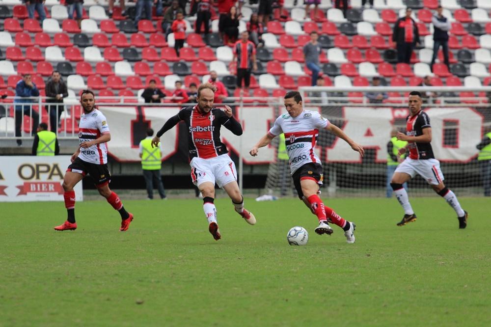Com a derrota em casa, Joinville precisa de um milagre para escapar do rebaixamento   Foto: Beto Lima/JEC
