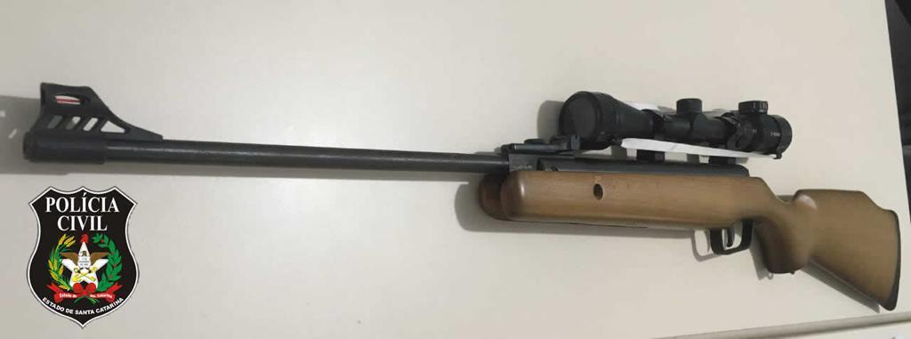Luneta é acoplada em armas de fogo | Foto Polícia Civil/Divulgação
