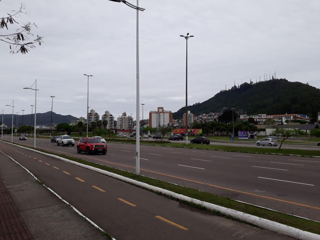 Semana começa com dia nublado, parecido com este domingo (14) em Florianópolis   Foto Ewaldo Willerding/OCPNews