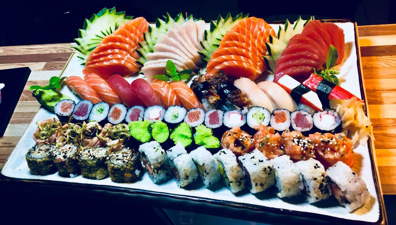 Gigantesco! Conheça o combinado de sushi com 60 peças do Kiseki Oriental Food
