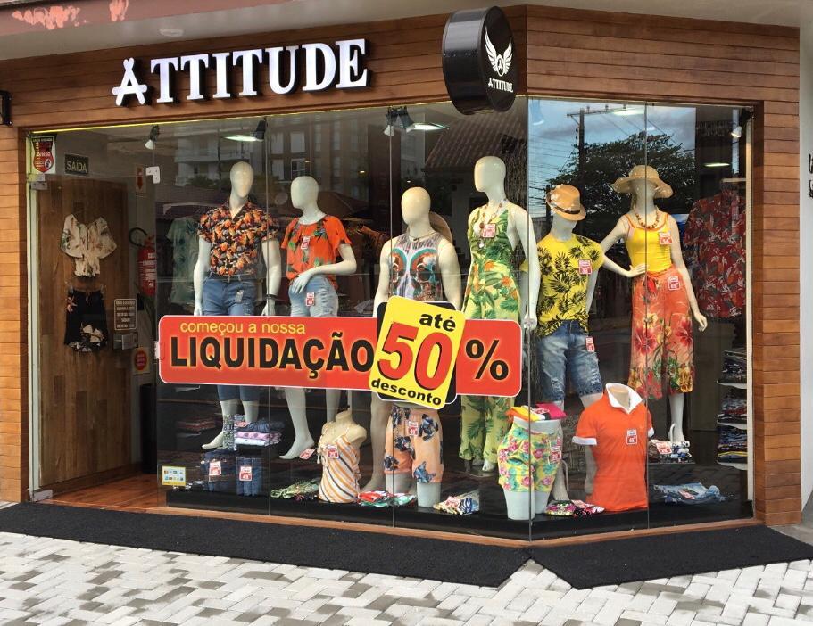 50% de desconto! Roupas da Loja Attitude com promoção imperdível em Jaraguá do Sul