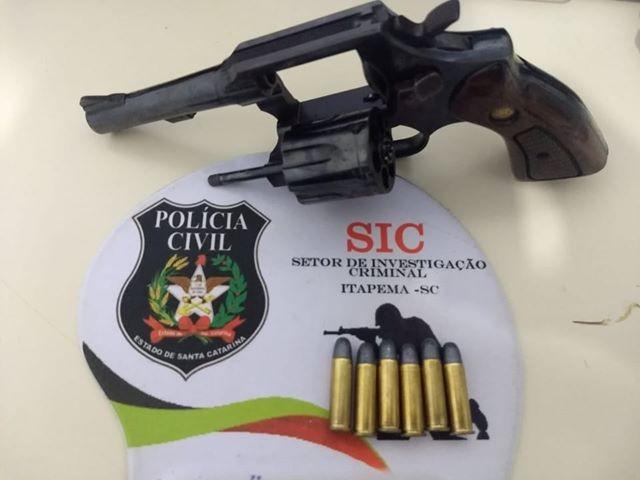 Arma utilizada no crime foi encontrada | Foto: Polícia Civil/OCP News