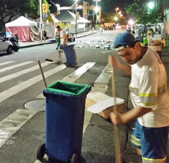 Bloco da limpeza vai estar presente na festa | Foto Comcap/Divulgação