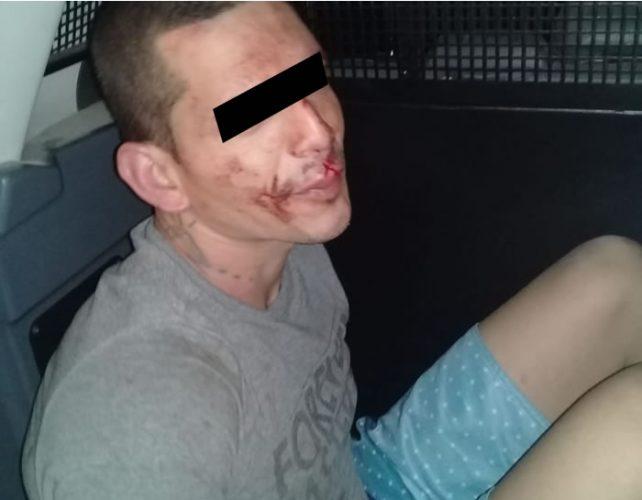 Lucio foi preso logo após a tentativa de estupro   Foto: PM/Divulgação