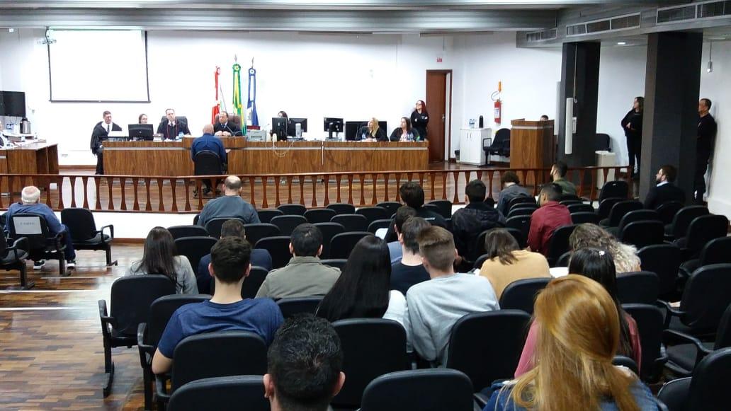 O julgamento começou às 13h e é presidido pelo Gustavo Aracheski   Foto Divulgação TJSC