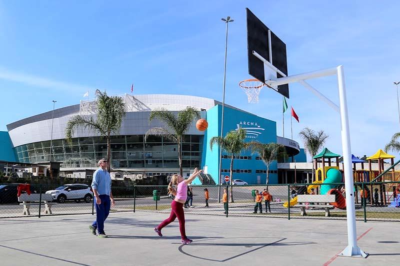 Parque da Arena Jaraguá está entre os locais bem aceitos pela comunidade   Foto Arquivo OCP News