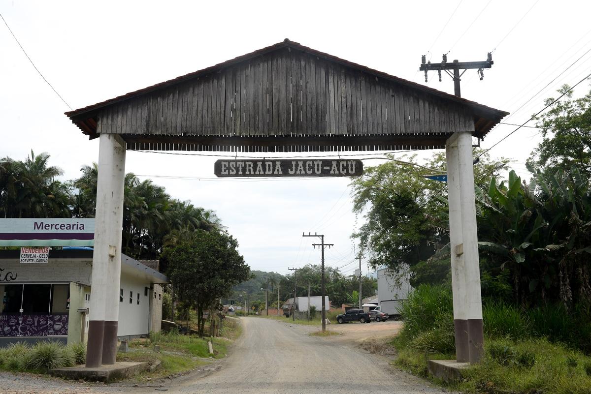 Estrada do bairro Jacu-Açu compreende mais de 40 empreendimentos e áreas turísticas | Foto Divulgação/Prefeitura de Guaramirim