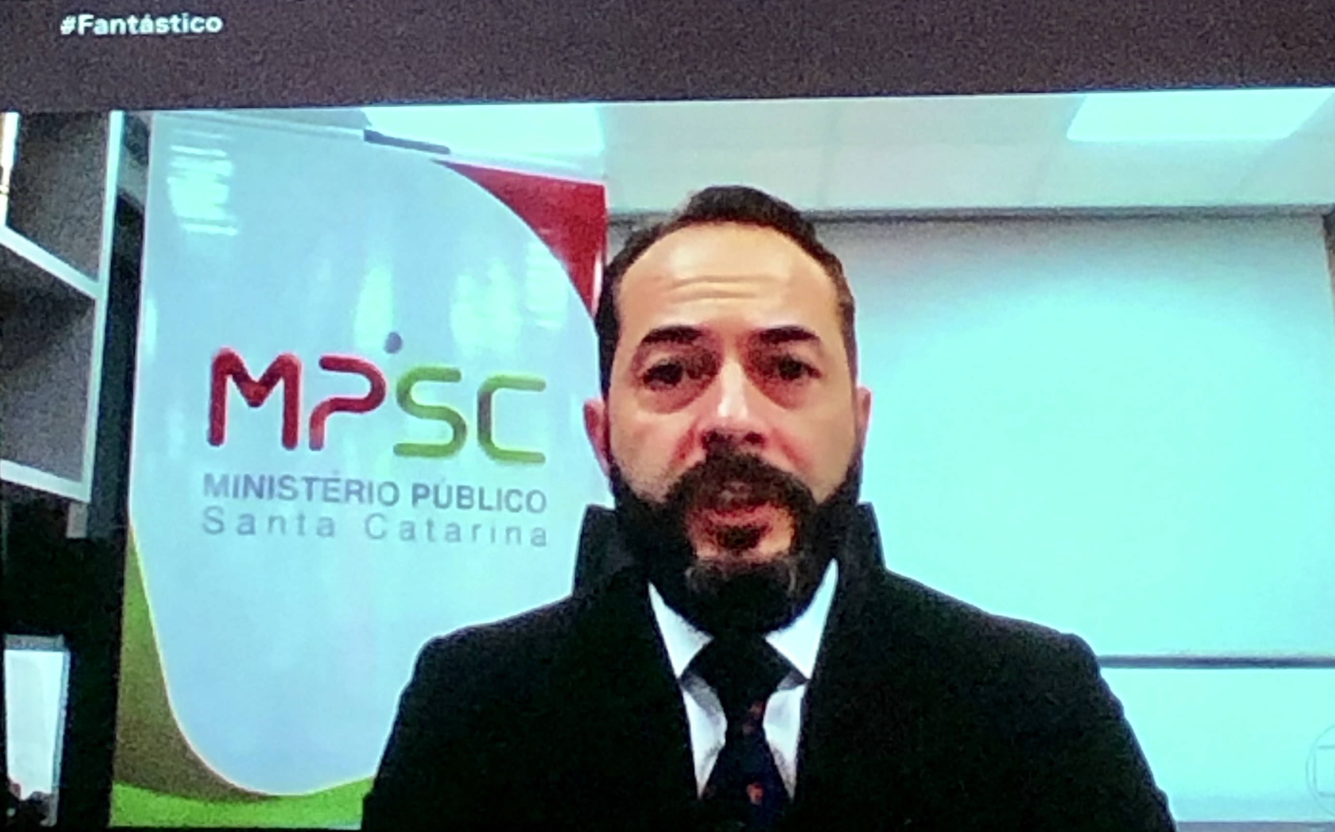 Chefe do MPSC, Fernando da Silva Comin, concedeu entrevista   Reprodução