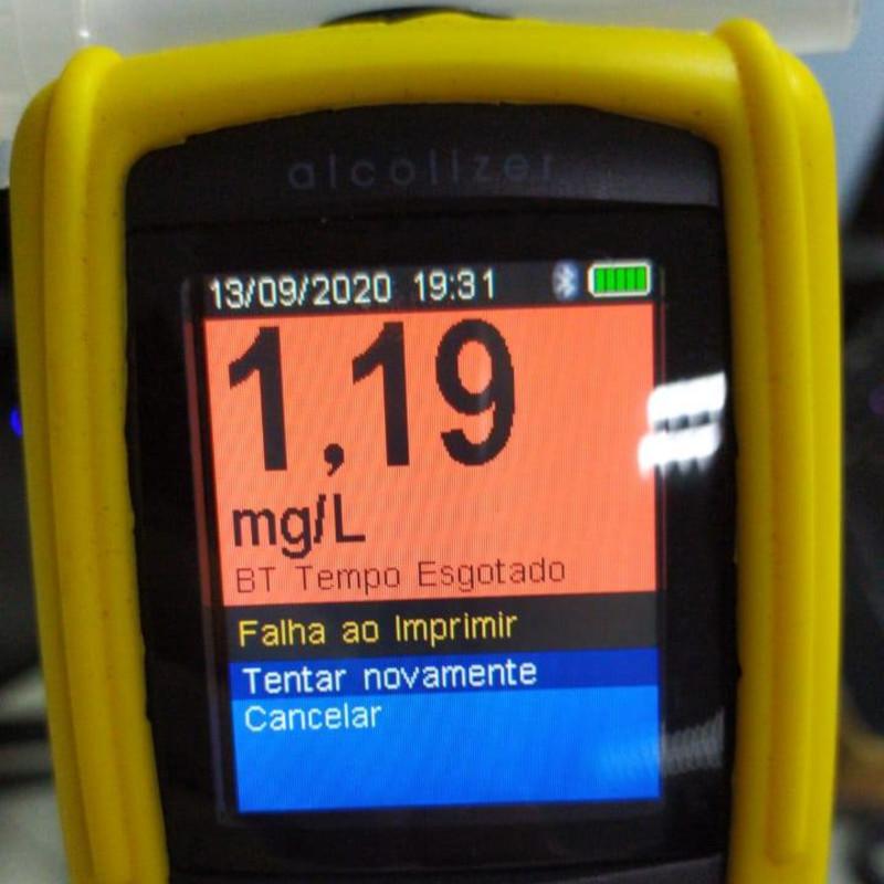 Motorista apresentou índice extremamente alto, conforme os policiais | Foto: PRF/Divulgação