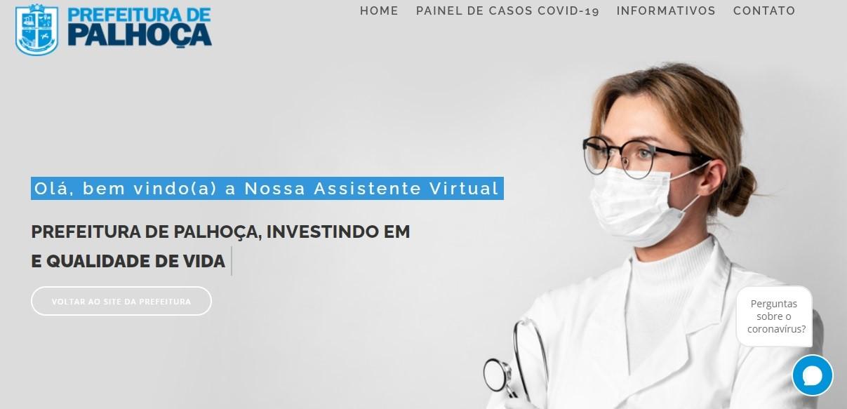 """Laura É a assistente virtual que a Prefeitura de Palhoça """"contratou""""   Ilustração PMP"""