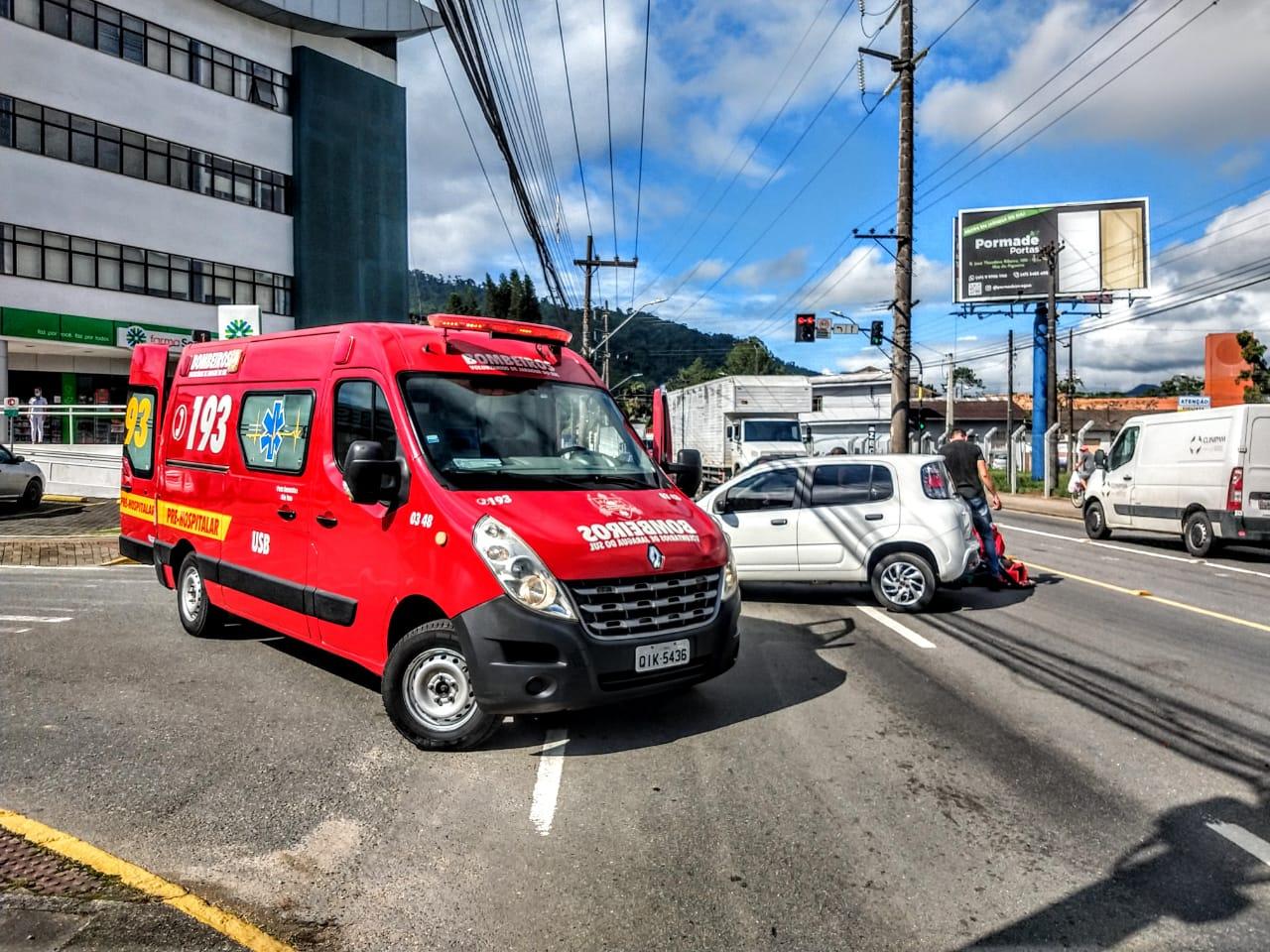 Acidente ocorreu na manhã desta sexta-feira (18) | Foto: Fábio Junkes/OCP News