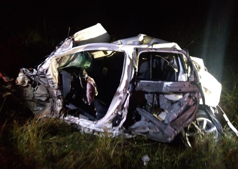 Motorista do Siena não resistiu aos ferimentos   Foto: PMRv/Divulgação