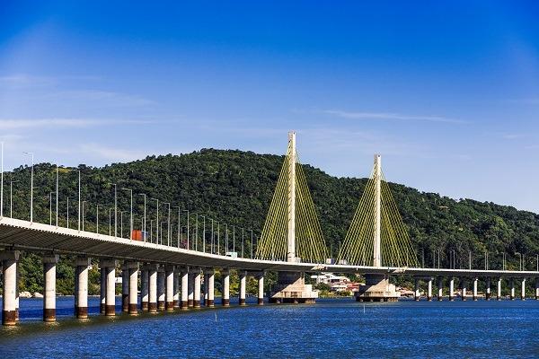 Ponte Anita Garibaldi entra no clima das Olimpíadas