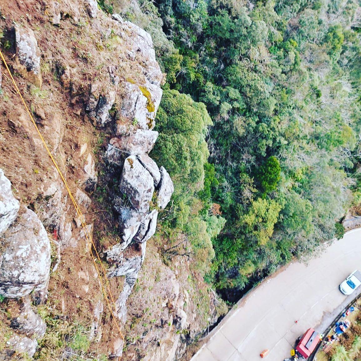 Obras de contenção estão sendo realizadas na Serra do Rio do Rastro | Foto: Arquivo/SIE/Divulgação